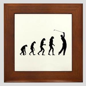 Evolution golfing Framed Tile