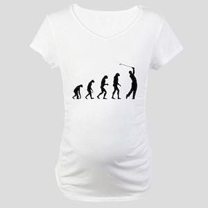 Evolution golfing Maternity T-Shirt