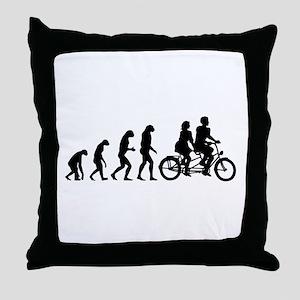 Evolution tandem Throw Pillow