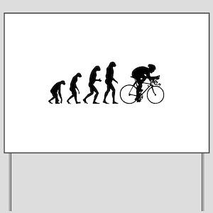 Evolution cyclist Yard Sign