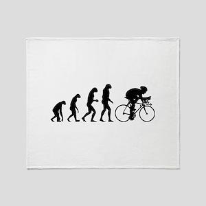 Evolution cyclist Throw Blanket