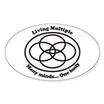 Living Multiple Sticker (Oval)