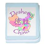 Desheng China Map baby blanket