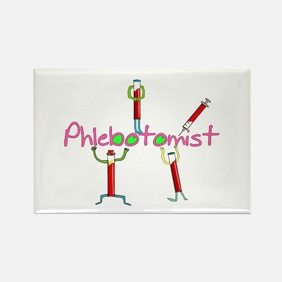 phlebotomist III Rectangle Magnet
