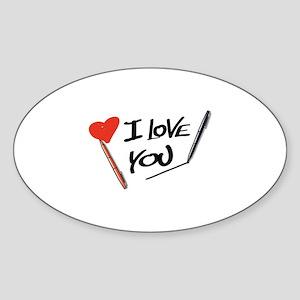 I love you Sticker (Oval)