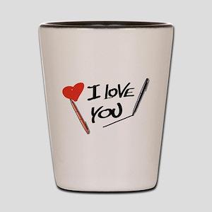 I love you Shot Glass