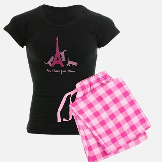 Cats of Paris (dark) Pajamas