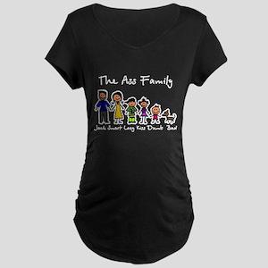 Ass Family Maternity Dark T-Shirt