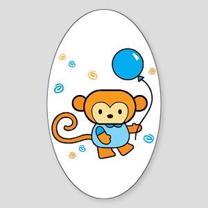 Lil' Monkey Sticker (Oval)