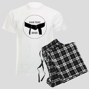 Custom Martial Arts Black Belt Men's Light Pajamas