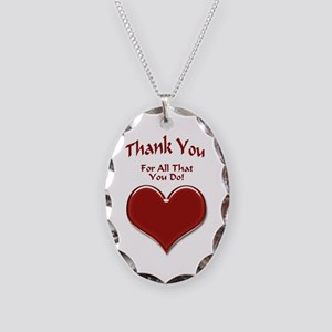 For All That You Do Necklace Oval Charm