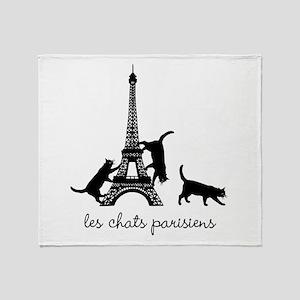 Cats of Paris Throw Blanket