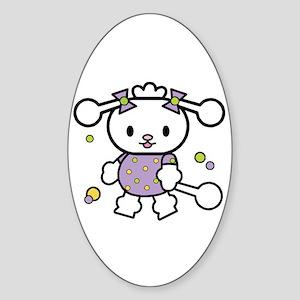 Lil' Poodle Sticker (Oval)