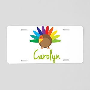 Carolyn the Turkey Aluminum License Plate