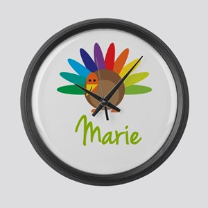 Marie the Turkey Large Wall Clock