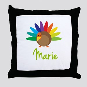 Marie the Turkey Throw Pillow