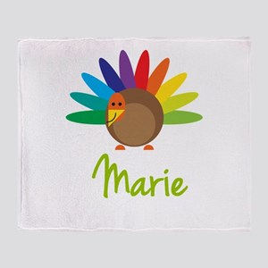 Marie the Turkey Throw Blanket
