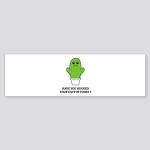 Hugged Your Cactus Sticker (Bumper)