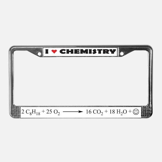 I love chemistry license plate frame