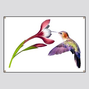 Hummingbird in flight Banner