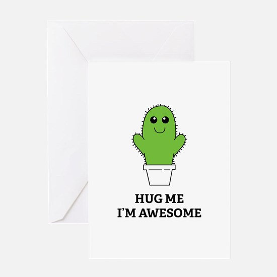 Hug Me I'm Awesome Greeting Card