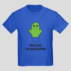 Hug Me I'm Awesome Kids Dark T-Shirt