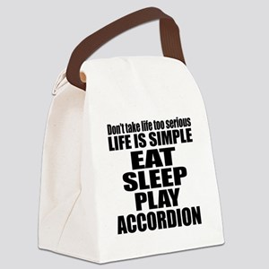 Eat Sleep And Accordion Canvas Lunch Bag