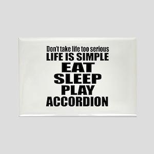 Eat Sleep And Accordion Rectangle Magnet