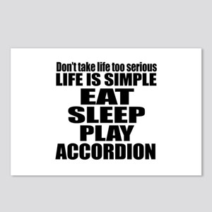 Eat Sleep And Accordion Postcards (Package of 8)
