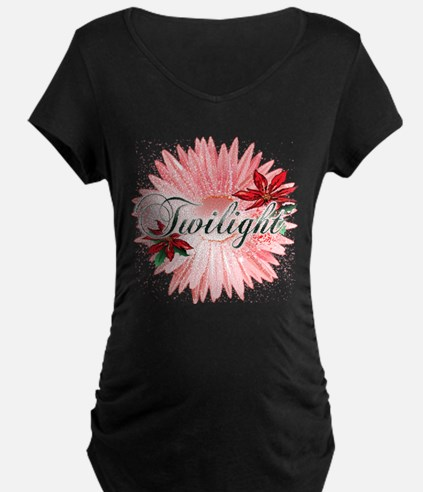 Twilight Pink Snow Flower by Twidaddy T-Shirt