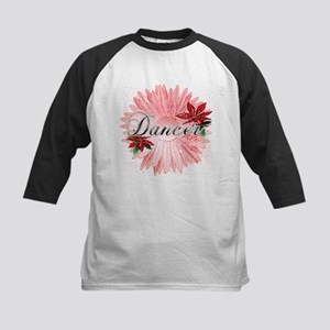 Dancer Pink Snow Flower Kids Baseball Jersey