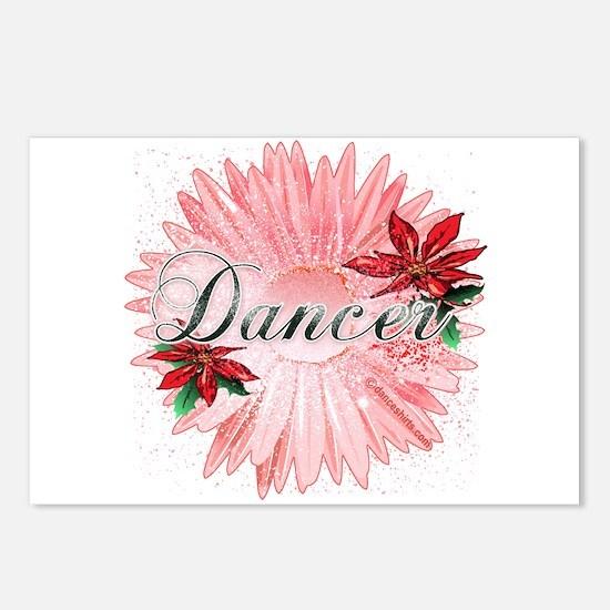Dancer Pink Snow Flower Postcards (Package of 8)