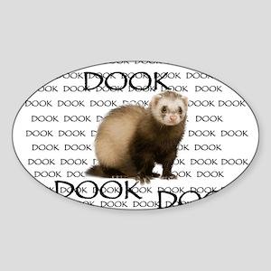 DOOKING FERRET Sticker (Oval)