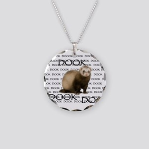DOOKING FERRET Necklace Circle Charm