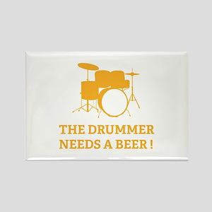 Drummer Beer Rectangle Magnet
