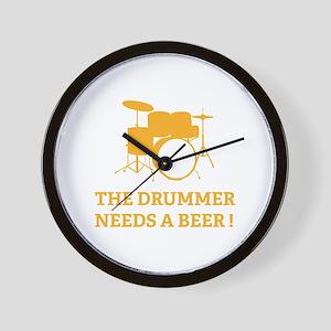 Drummer Beer Wall Clock