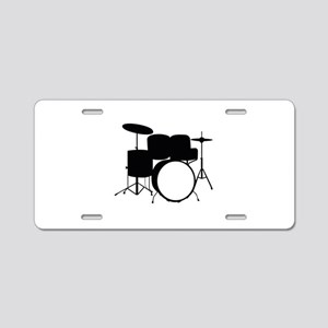 Drums Aluminum License Plate