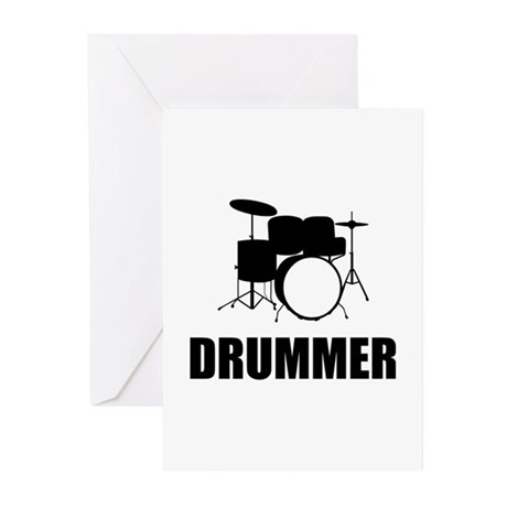 Drummer Greeting Cards (Pk of 20)