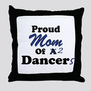 Mom of 2 Dancers Throw Pillow