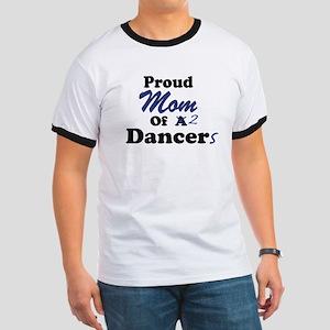 Mom of 2 Dancers Ringer T