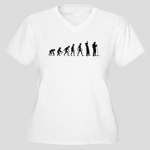 COMEDIAN EVOLUTION Women's Plus Size V-Neck T-Shir