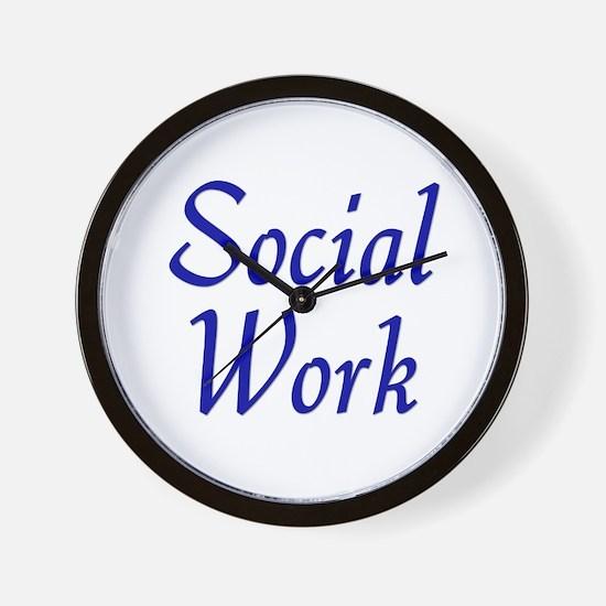 Social Work (blue) Wall Clock