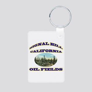 Signal Hill California Aluminum Photo Keychain