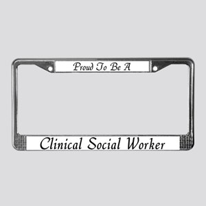Social Work Pride License Plate Frame 2