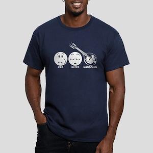 Eat Sleep Mandolin Men's Fitted T-Shirt (dark)