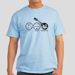 Eat Sleep Mandolin Light T-Shirt