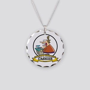 WORLDS GREATEST CASHIER Necklace Circle Charm