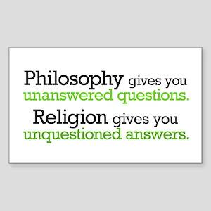 Philosophy & Religion Sticker (Rectangle 10 pk)