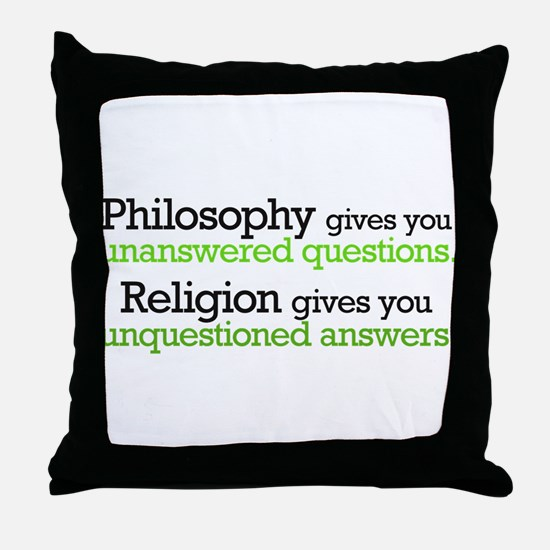 Philosophy & Religion Throw Pillow