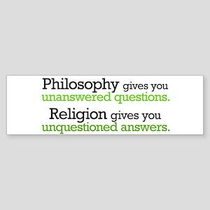 Philosophy & Religion Sticker (Bumper 10 pk)